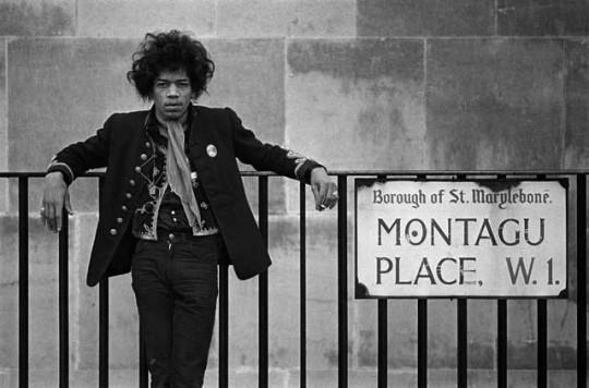 Jimi Hendrix 1966-67年在伦敦的Montagu Place寓所
