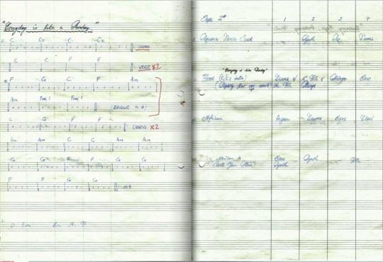 Stephen Street的手写乐谱