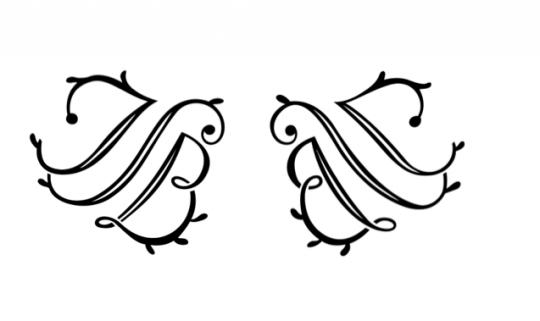 图例2-2分解出的JSB首字母图形
