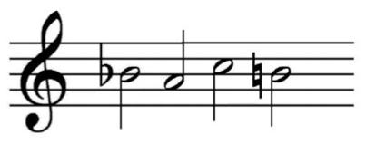 "谱例1:""B-A-C-H""动机"