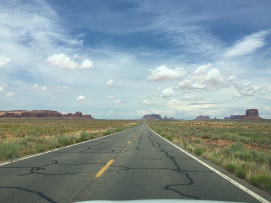 163, a few miles southwest from Monument Valley